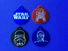 Star Wars R2D2 C3PO DARTH VADER Pet Dog ID Tag with Engraving
