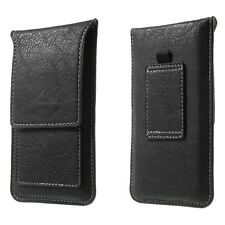 UNIVERSAL MOBILE PHONE VERTICAL LEATHER BELT LOOP CARD SLOT CASE POUCH COVER