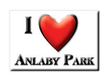 SOUVENIR UK - ENGLAND MAGNET I LOVE ANLABY PARK (EAST RIDING OF YORKSHIRE)