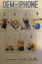 FUNDA SILICONA TRANSPARENTE MINIONS DESPICABLE ME IPHONE 6 (4.7) y 6 PLUS (5,5)