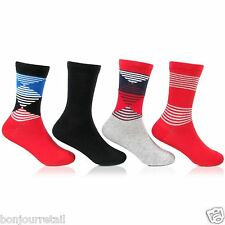 Bonjour Multicolor Kids Fancy Socks Pack Of 4 Pairs _BRO706-PO4