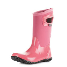 Girls Kids Bogs North Hampton Pink Wellington Boots Neoprene Wellies Size