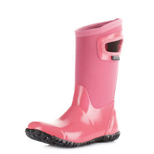 Girls Kids Bogs North Hampton Pink Wellington Boots Neoprene Wellies Uk Size