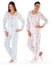 New ladies Womens PYJAMAS 100% Polyester Fleece Pink or Aqua size 10 to 20 LN317