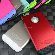 "For iPhone 6 4.7"" Plus 5.5 Tough Hybrid Armor Protective TPU Slim Case +PC Cover"