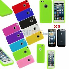 For iPhone 5 5S Circles Simple Gel TPU Rubber Skin Case Cover+3 PCS Free Films