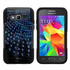 For Samsung Galaxy Phone Models Stand Shell Hard Case Soft Gel - Binary Code