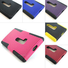 For Nokia Lumia 920 AT&T Mesh Hybrid Skin Case Phone Cover Colorful +S