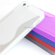 For Apple iPhone 5 5S Colorful S-Line Ultra-Thin Glossy TPU Case Skin Cover