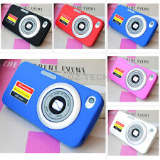 For Apple iPhone 4 4S 4G Camera Design Silicone Gel Soft Case Cover Accessory