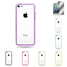 For Apple iPhone 5c Various Assorted Hard Rubber TPU Bumper Frame Cover Case