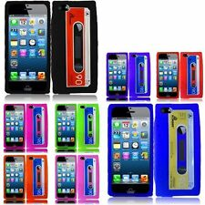 Color Design Old Player Cassette Silicone Skin Cover Case For Apple iPhone 5 5S