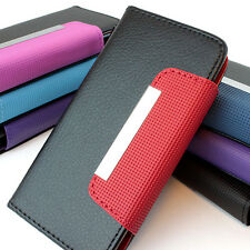 For Apple iPhone 5C Flip Wallet Hybrid PU Leather Case Pouch w,Strap A