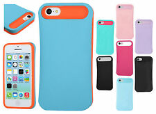 For Apple iPhone 5C TPU Candy HYBRID GLOW Case Phone Cover +Screen Protector
