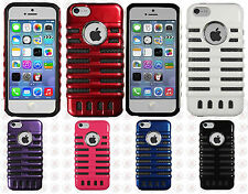 iPhone 5C Rubber Hybrid SKELETON Hard Silicone Phone Case Cover + Screen Guard