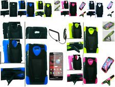 VHS Kickstand Hybrid Hard+Silicone Case For Motorola Droid RAZR M XT907 Phone
