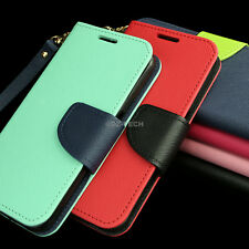 For Samsung Galaxy Grand Prime LTE Hybrid PU Leather Flip Wallet Pouch Case