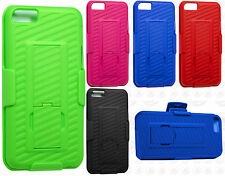 For Apple iPhone 5C COMBO Belt Clip Holster Case Cover Kick Stand Accessory