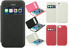 For Apple iPhone 5C Premium Side Flip Protector Phone Case Cover + Screen Guard