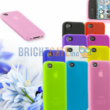 Colorful Ultra Slim RUBBER Soft Silicone GEL Bumper TPU Case For iPhone 4 4S