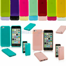 New Color JELLY TPU GEL Plain Rubber Snap-on Skin Case Cover For Apple iPhone 5C
