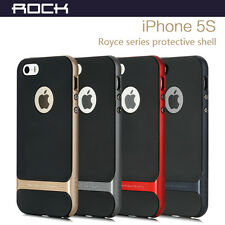 For iPhone 5S 5 Hybrid Ultra Slim Hard Bumper Soft Rubber Skin Case Cover +SCP
