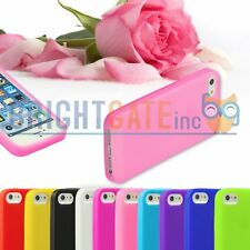 Colorful Ultra Slim RUBBER Soft Silicone GEL Bumper TPU Case For iPhone 5 5S