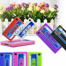 Silicone Cassette Tape Soft Silicone Rubber Case Cover For Apple  iPhone 4 4S