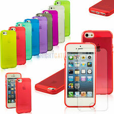 Clear Transparent Soft TPU Silicone Gel Cover Case Skin for iPhone 5 5S + Film