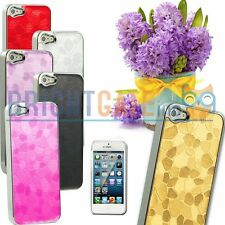 NEW Slim Luxury Pattern Silver Chrome Hard Case Cover For Apple iPhone 5 5S
