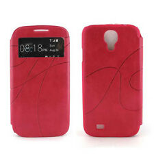 PU Leather Wallet Flip Case Cover w, Card Slot  for  Samsung Galaxy S4