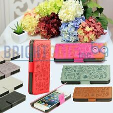 Color Magic Girl Flip PU Leather Wallet Pouch Case Cover For Apple iPhone 5 5S