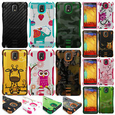 For Samsung Galaxy Note III 3 Hybrid Tough Defender Hard Case Kicks