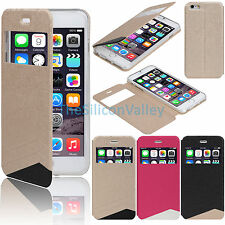 New Flip PU Leather View Window Skin Case Cover for Apple iPhone 6 PLU