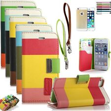 Luxury Flip PU Leather Skin Case Cover Pouch For Apple iPhone 5 5S iPh