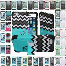 For Apple iPhone 4 , 4S , 5 , 5S Hybrid Hard Cell Phone Case+Soft Sili