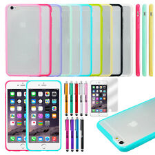 TPU Ultra Thin Bumper Case Clear Hard Frame Cover For Apple iPhone 6 P