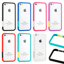 TPU Bumper Frame Matte Slim Rubber Cute Color Case Cover for iPhone 5C