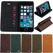 For iPhone 5 5S - PU Leather Book Flip Stand Cover Card Pouch Wallet Case