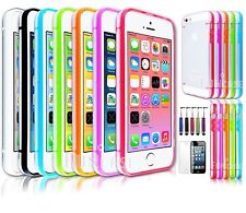 Clear Glowing Transparent PC Bumper Back Shell Hard Case Cover For iPhone 5 5S