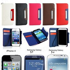 NEW Magnetic Flip Luxury Leather Wallet Case Cover Pouch for Apple iPh