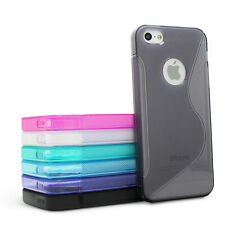For Apple iPhone 5 5S Colorful TPU Gel Transparent S-Line Wave Glossy