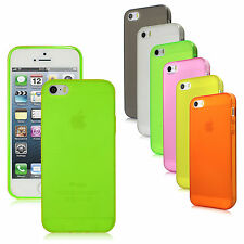 Matte Finish TPU Rubber Flex-Gel Skin Case Cover for iPhone 5S, 5