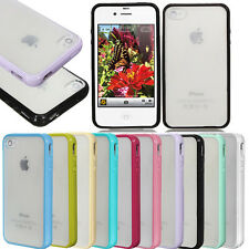 TPU Bumper Frame With Matte Clear Hard Back Skin Case Cover for iPhone 5S 6 plu