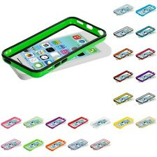 For Apple iPhone 5C Color TPU Bumper Frame Rubber Skin Case Cover Acce