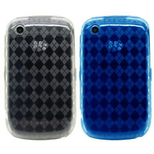 Diamond TPU Rubber Gel Case Cover for Blackberry Curve 8520 8530 9300