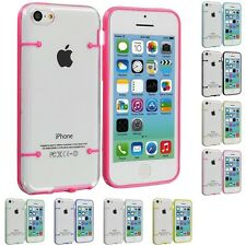 For Apple iPhone 5C Crystal TPU Hybrid Transparent Skin Case Cover Col