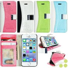 ID Card Flip Stand Glitter Leather Wallet Case Cover for Apple iPhone