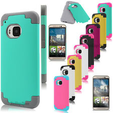 New Hybrid Shockproof Rugged Rubber Hard Matte Case Cover For HTC One