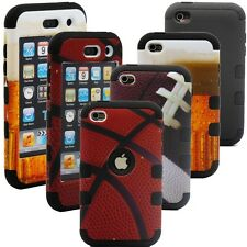Hybrid Rugged Rubber Ball Combo Matte Hard Case Cover for iPod Touch 4